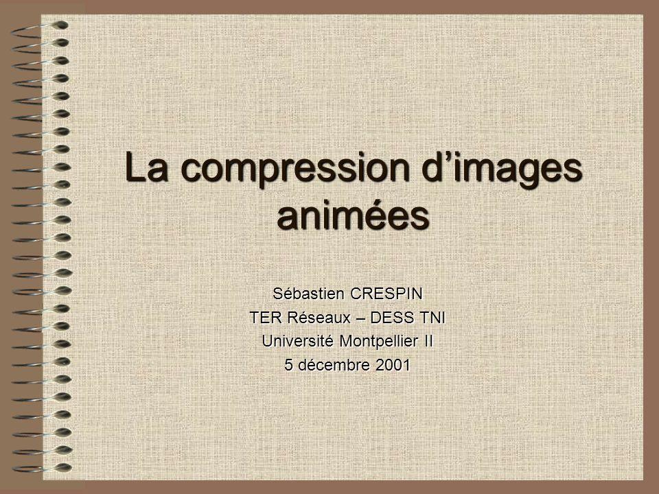 La compression dimages animées Sébastien CRESPIN TER Réseaux – DESS TNI Université Montpellier II 5 décembre 2001