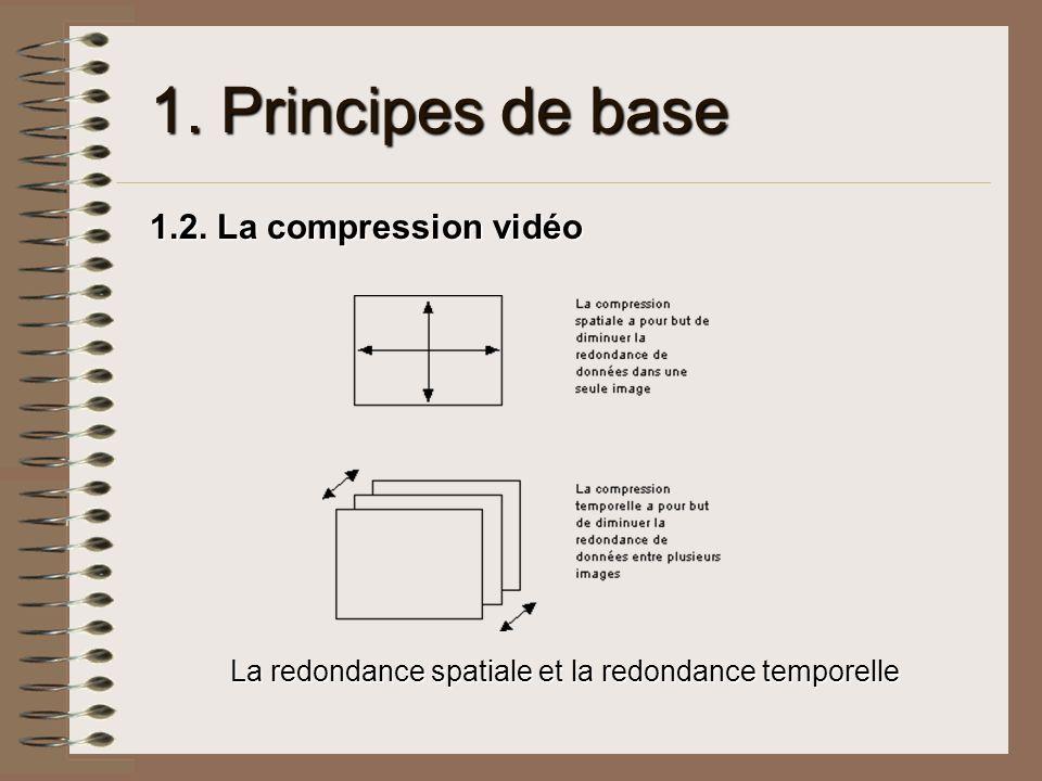 1. Principes de base 1.2. La compression vidéo La redondance spatiale et la redondance temporelle