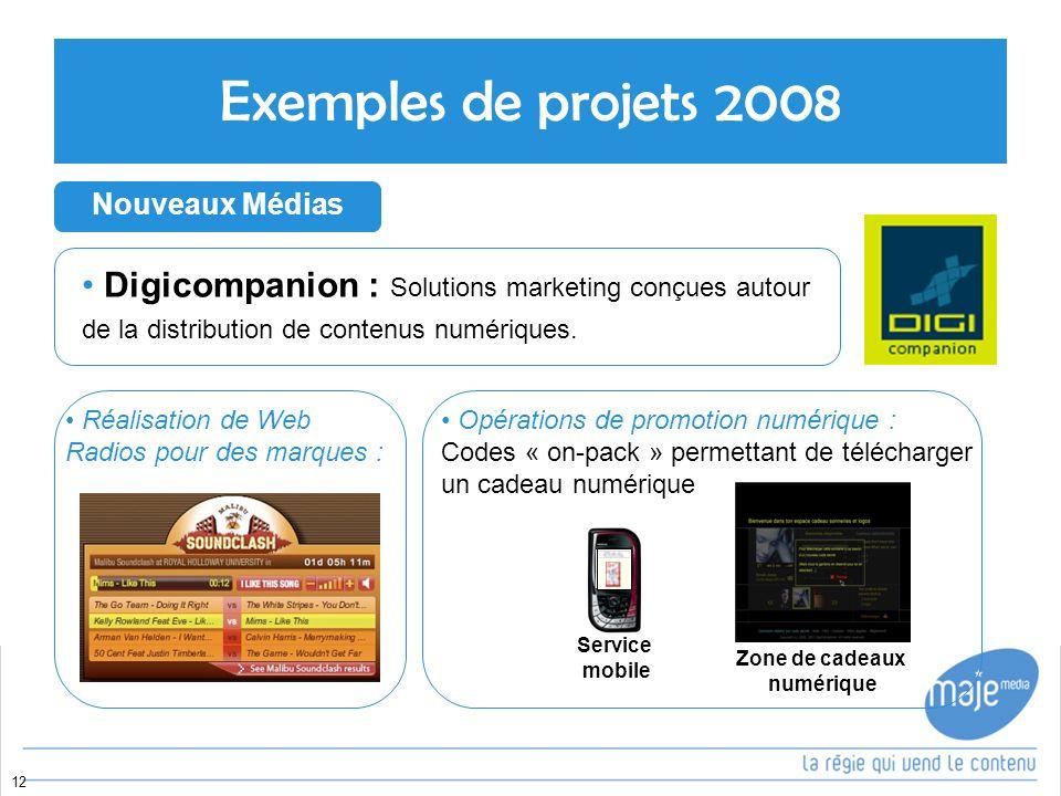 12 Digicompanion : Solutions marketing conçues autour de la distribution de contenus numériques.