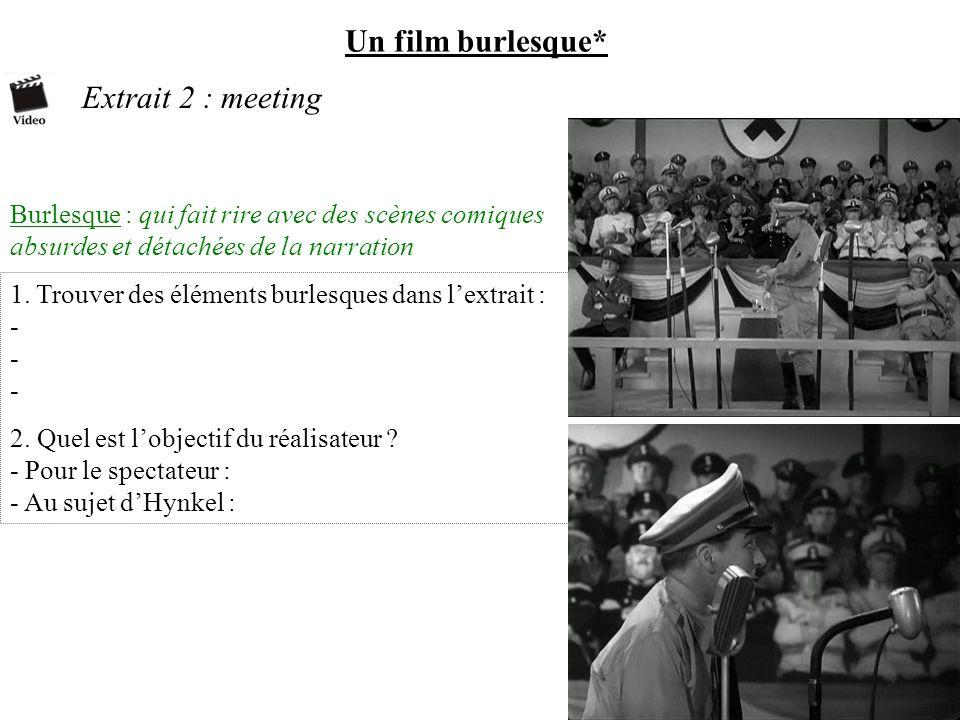 Un film burlesque* Extrait 2 : meeting Burlesque : qui fait rire avec des scènes comiques absurdes et détachées de la narration 1. Trouver des élément