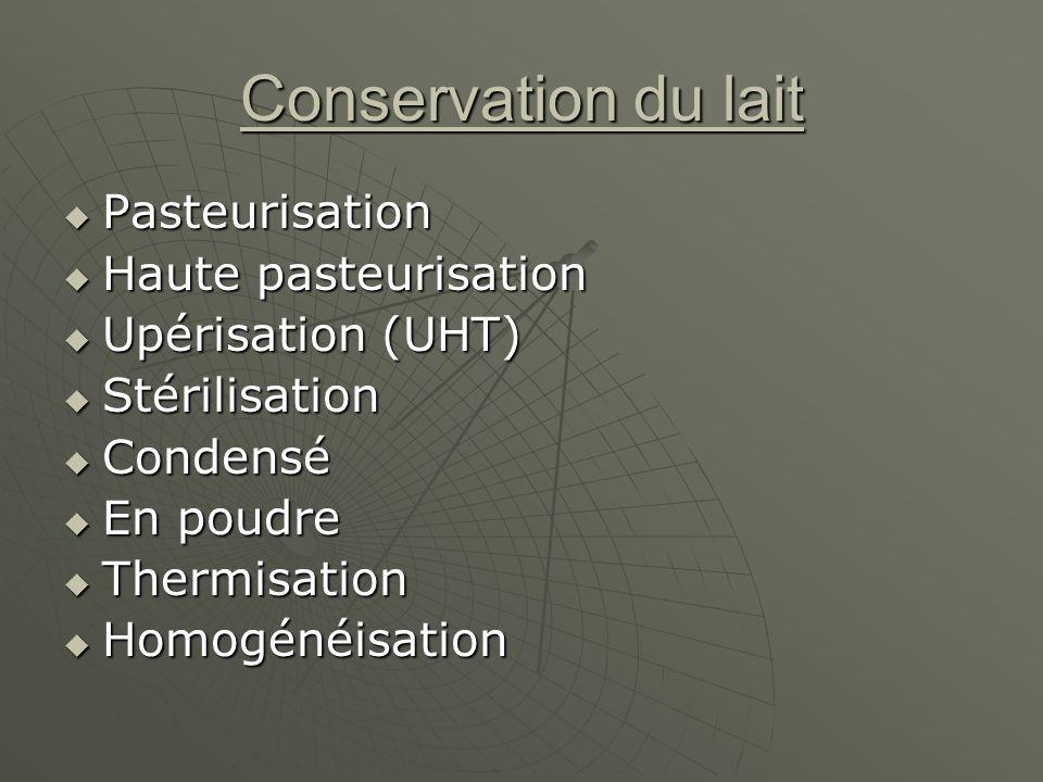 Lait acidulé Des cultures de bactéries sont ajoutées au lait et chauffé.
