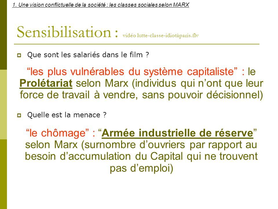 a.Les critères constitutifs dune classe sociale (document 2 page 184) (document 3 page 185) 1.