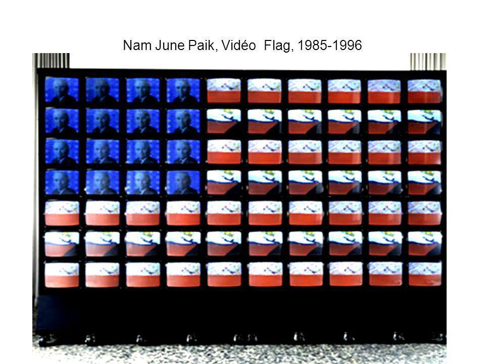 Nam June Paik, Vidéo Flag, 1985-1996