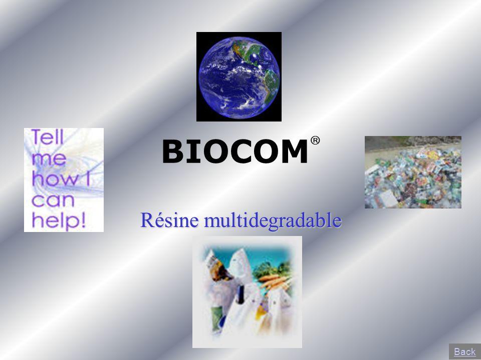 BIOCOM Résine multidegradable Back