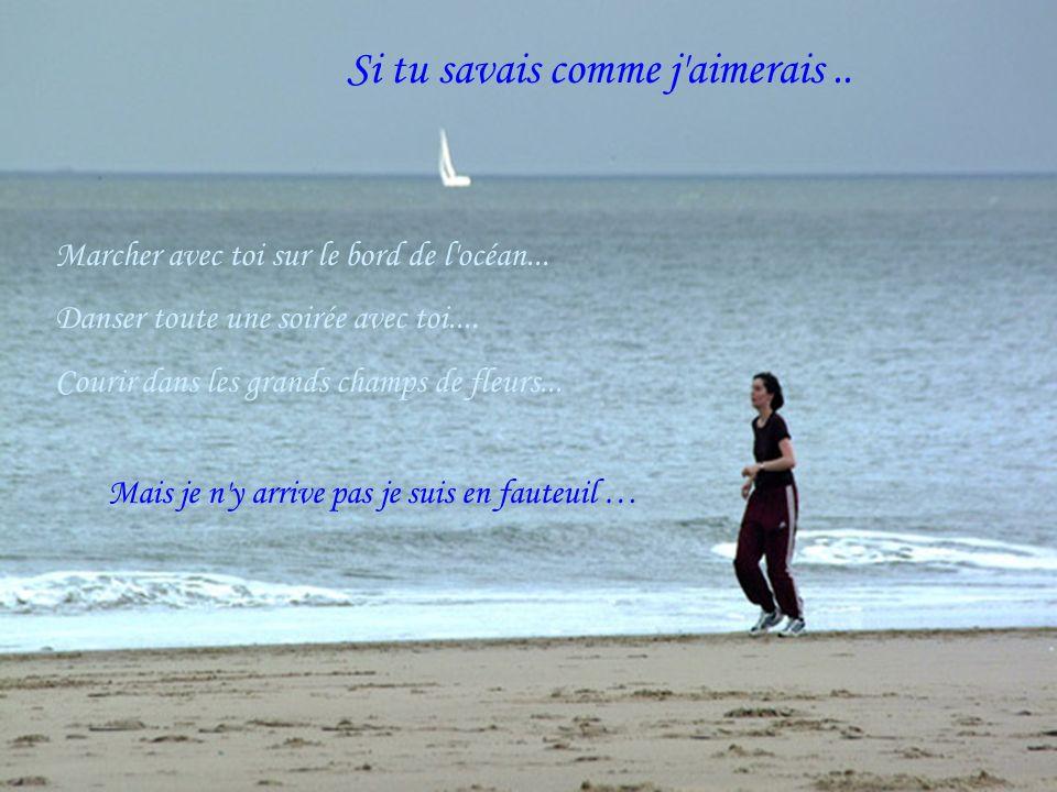 Si tu savais comme j aimerais..Marcher avec toi sur le bord de l océan...