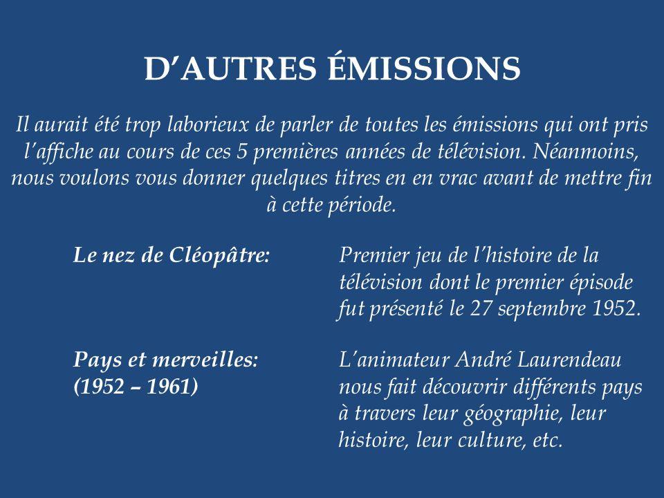 1956 – 1970 LES BELLES HISTOIRES DES PAYS DEN HAUT Eugène Daignault et Pierre Daignault Il y a un personnage pittoresque quil ne faudrait pas oublier,