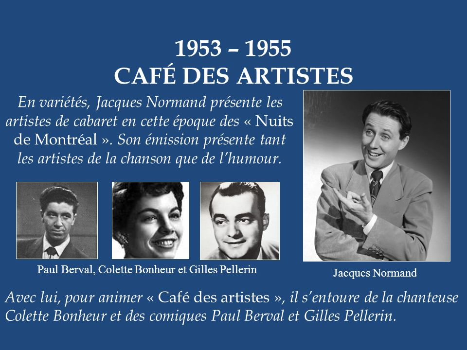 1957 – 1961 LA PENSION VELDER Lucie De Vienne et Michel Noël Cest Robert Choquette qui a imaginé les personnages de ce téléroman qui roulaient déjà leur bosse à la radio depuis un certain temps.