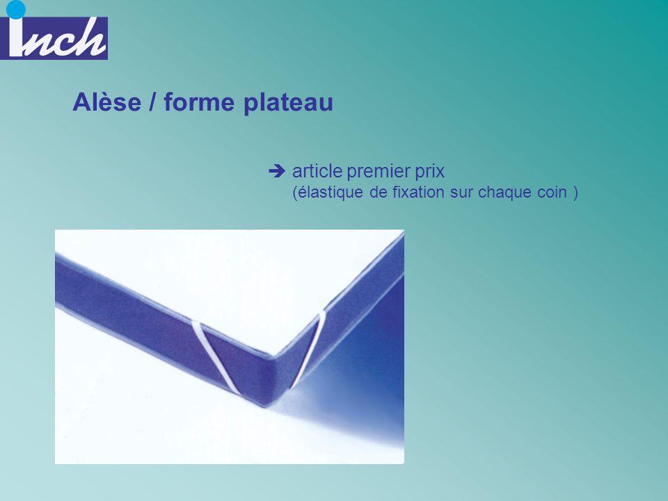 Alèse / forme plateau article premier prix (élastique de fixation sur chaque coin )