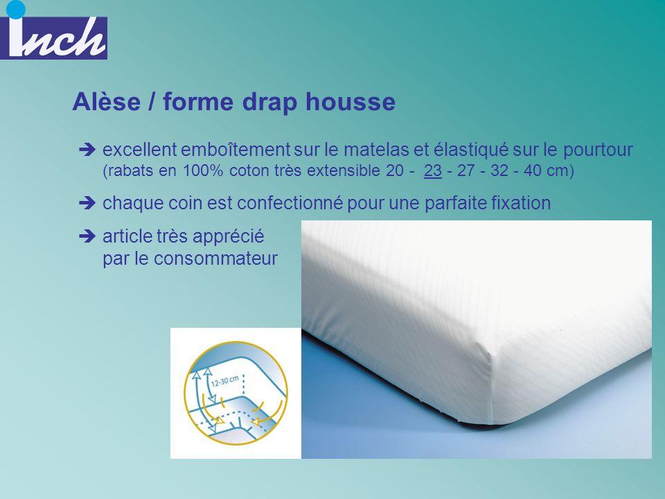 Alèse / forme drap housse excellent emboîtement sur le matelas et élastiqué sur le pourtour (rabats en 100% coton très extensible 20 - 23 - 27 - 32 -