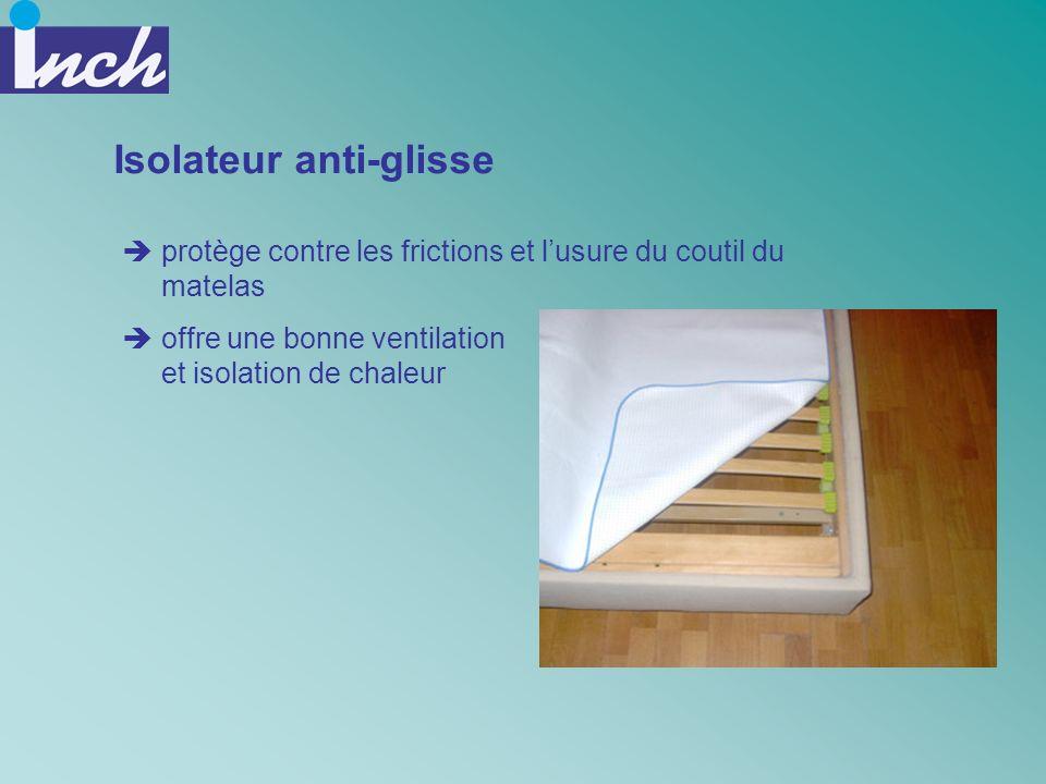 Isolateur anti-glisse protège contre les frictions et lusure du coutil du matelas offre une bonne ventilation et isolation de chaleur