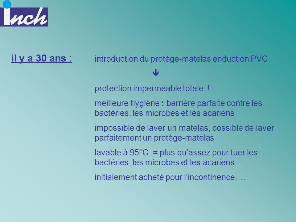 introduction du protège-matelas enduction PVC protection imperméable totale ! meilleure hygiène : barrière parfaite contre les bactéries, les microbes