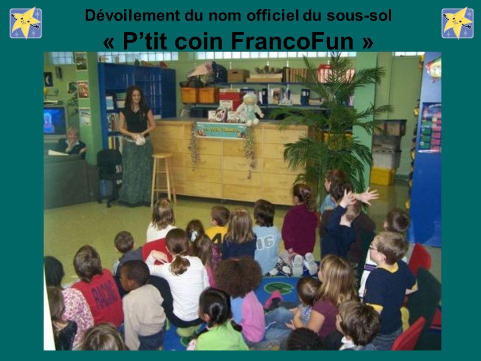 Dévoilement du nom officiel du sous-sol « Ptit coin FrancoFun »