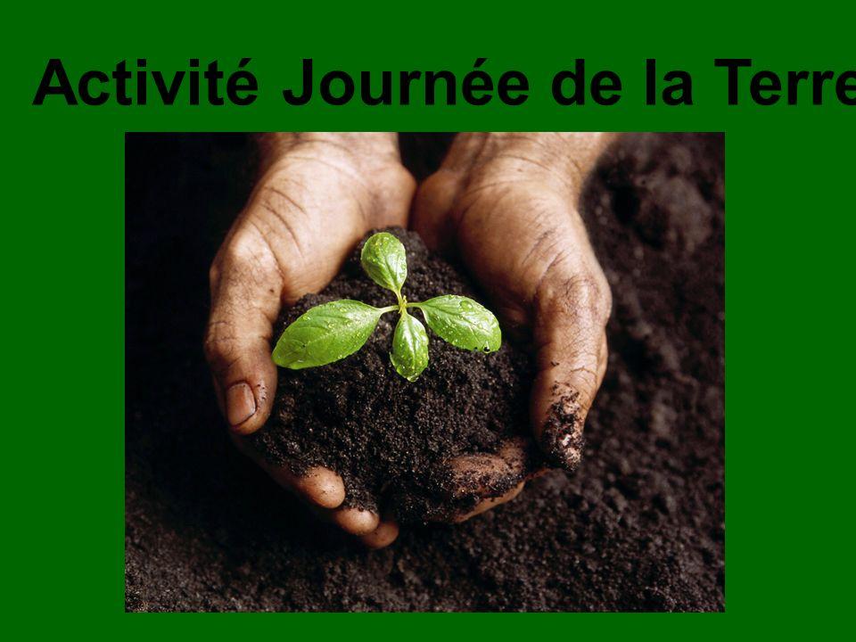 Activité Journée de la Terre