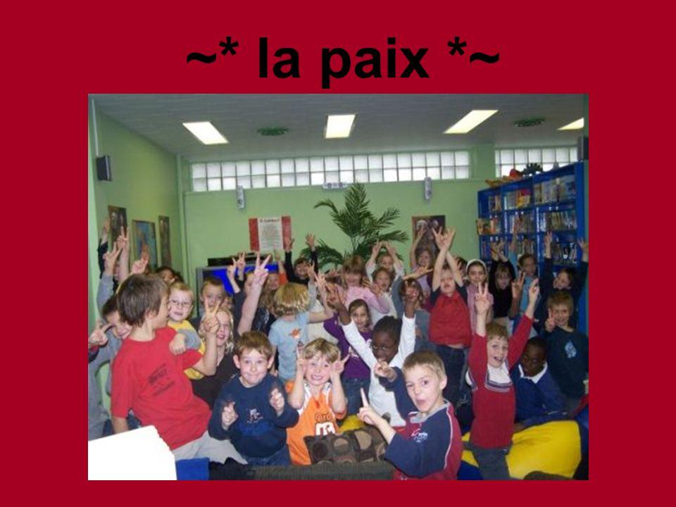 ~* la paix *~