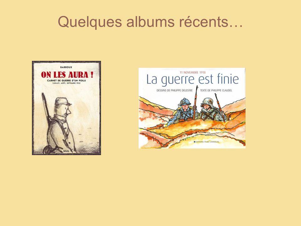 Quelques albums récents…