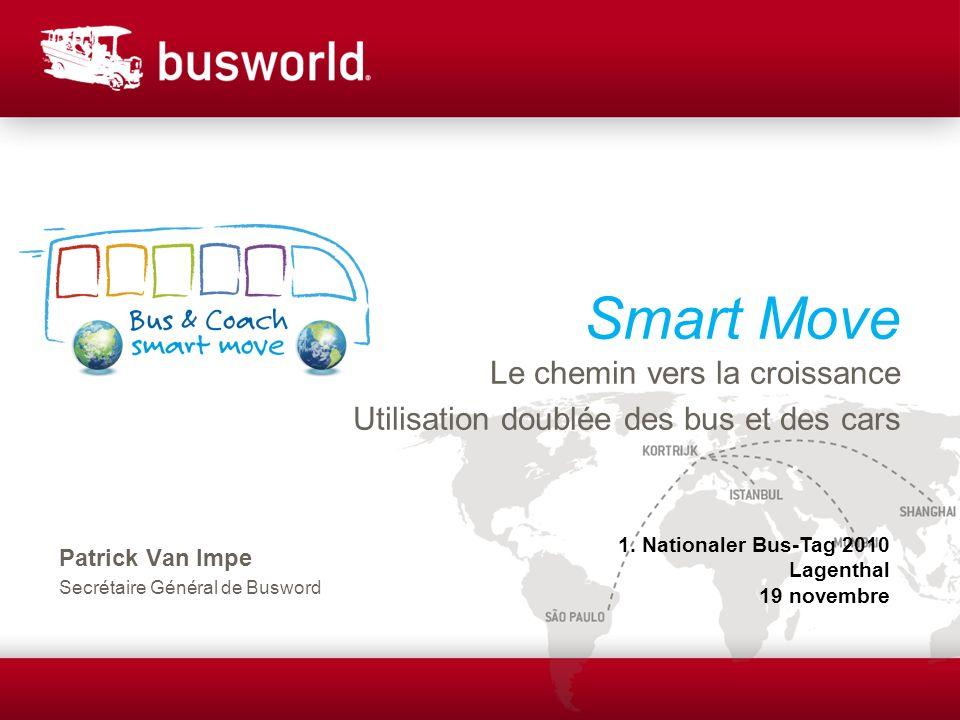 Smart Move Le chemin vers la croissance Utilisation doublée des bus et des cars Patrick Van Impe Secrétaire Général de Busword 1.