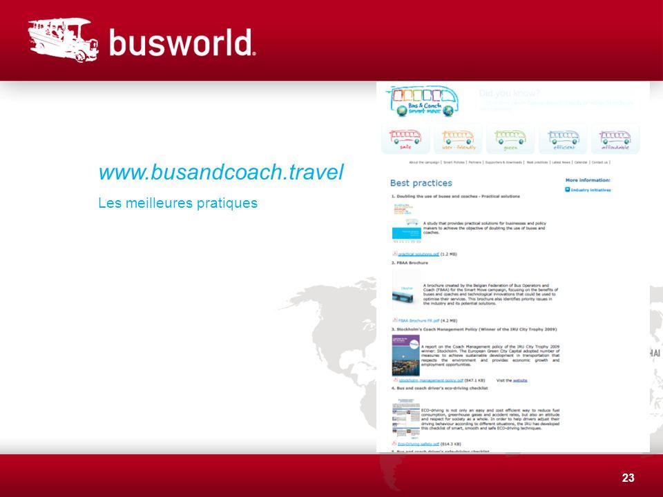 23 www.busandcoach.travel Les meilleures pratiques