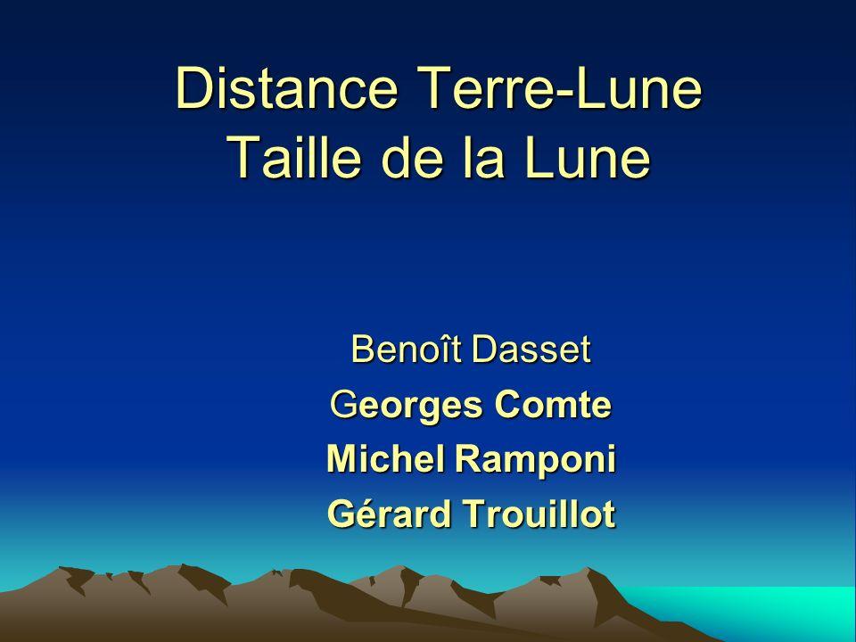 Distance Terre-Lune Taille de la Lune Benoît Dasset Georges Comte Michel Ramponi Gérard Trouillot