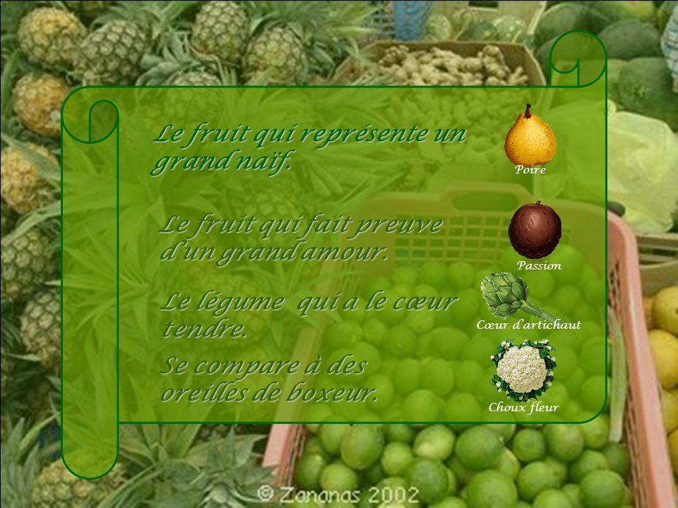 Le fruit qui laisse sa marque Prune Le fruit qui sert à attaquer lennemi. Grenade Le fruit préféré de Popeye. Olive Signal donné aux Alliers durant la
