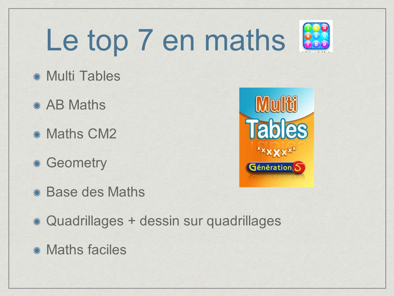 Le top 7 en maths Multi Tables AB Maths Maths CM2 Geometry Base des Maths Quadrillages + dessin sur quadrillages Maths faciles