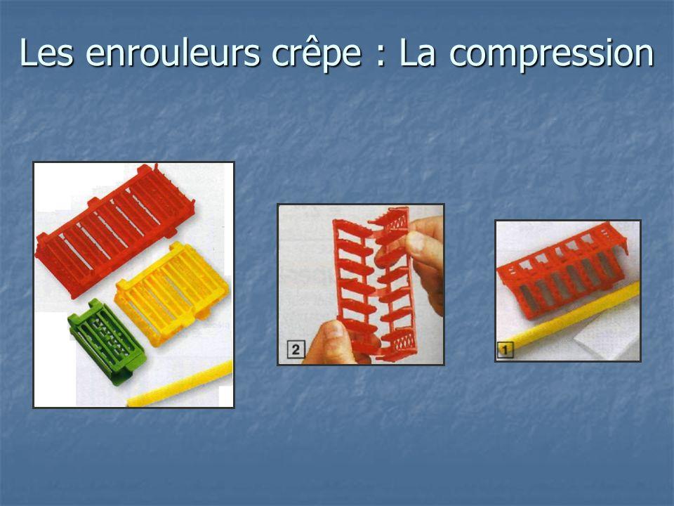 Les enrouleurs crêpe : la compression La compression est utilisée de diverses façons.