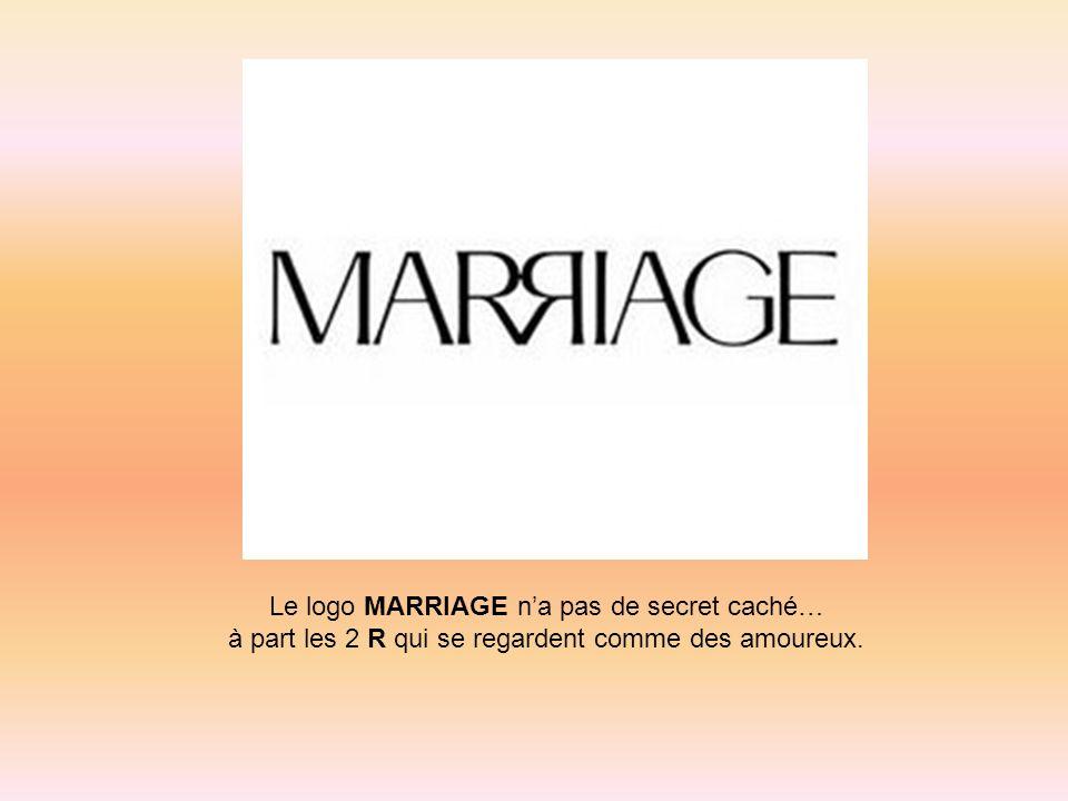 Le logo MARRIAGE na pas de secret caché… à part les 2 R qui se regardent comme des amoureux.