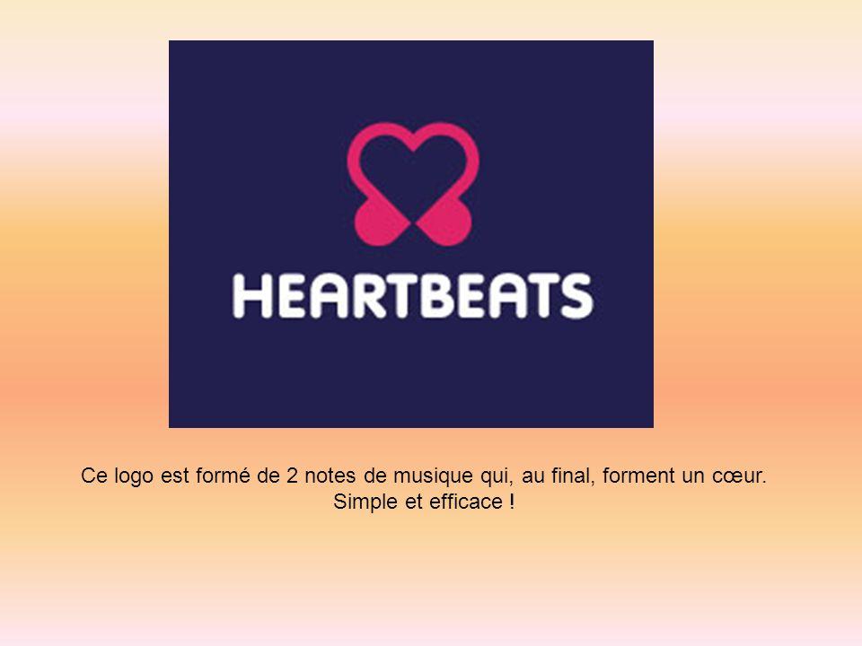 Ce logo est formé de 2 notes de musique qui, au final, forment un cœur. Simple et efficace !