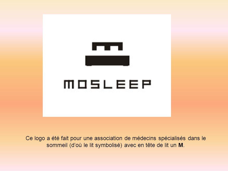 Ce logo a été fait pour une association de médecins spécialisés dans le sommeil (doù le lit symbolisé) avec en tête de lit un M.