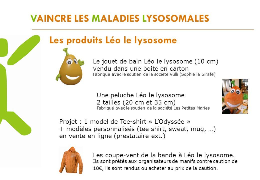 VAINCRE LES MALADIES LYSOSOMALES Les produits Léo le lysosome Le jouet de bain Léo le lysosome (10 cm) vendu dans une boite en carton Fabriqué avec le