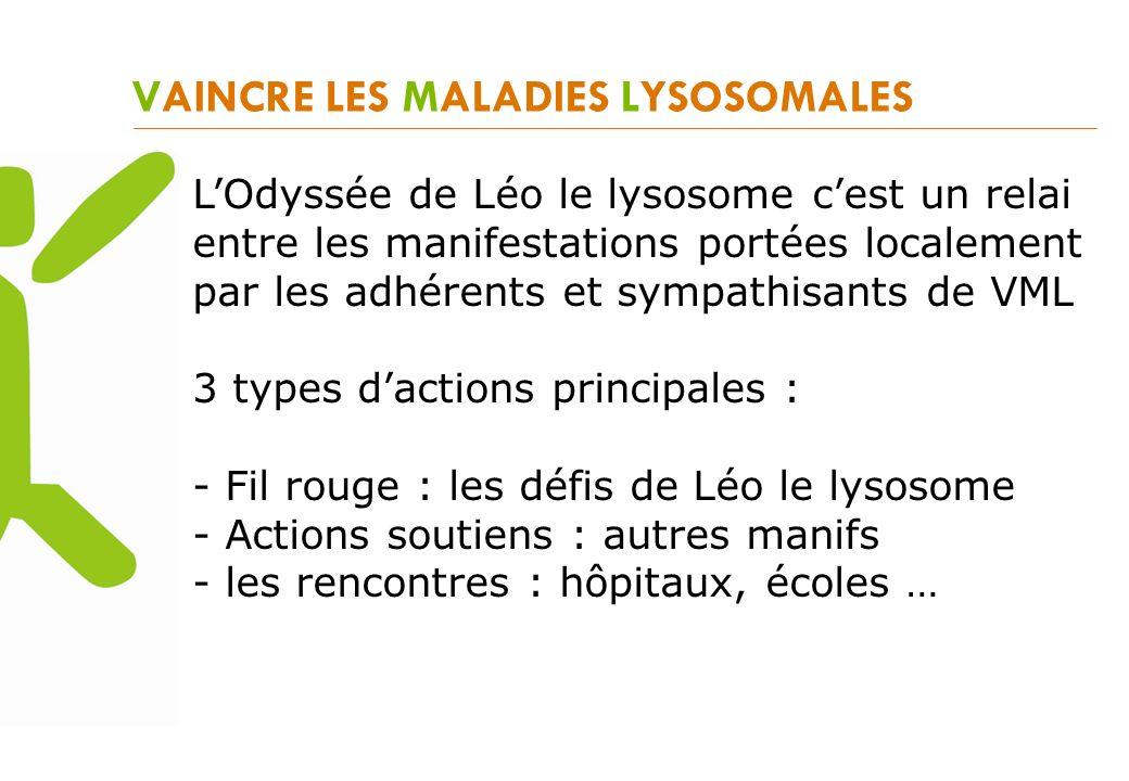VAINCRE LES MALADIES LYSOSOMALES LOdyssée de Léo le lysosome cest un relai entre les manifestations portées localement par les adhérents et sympathisa