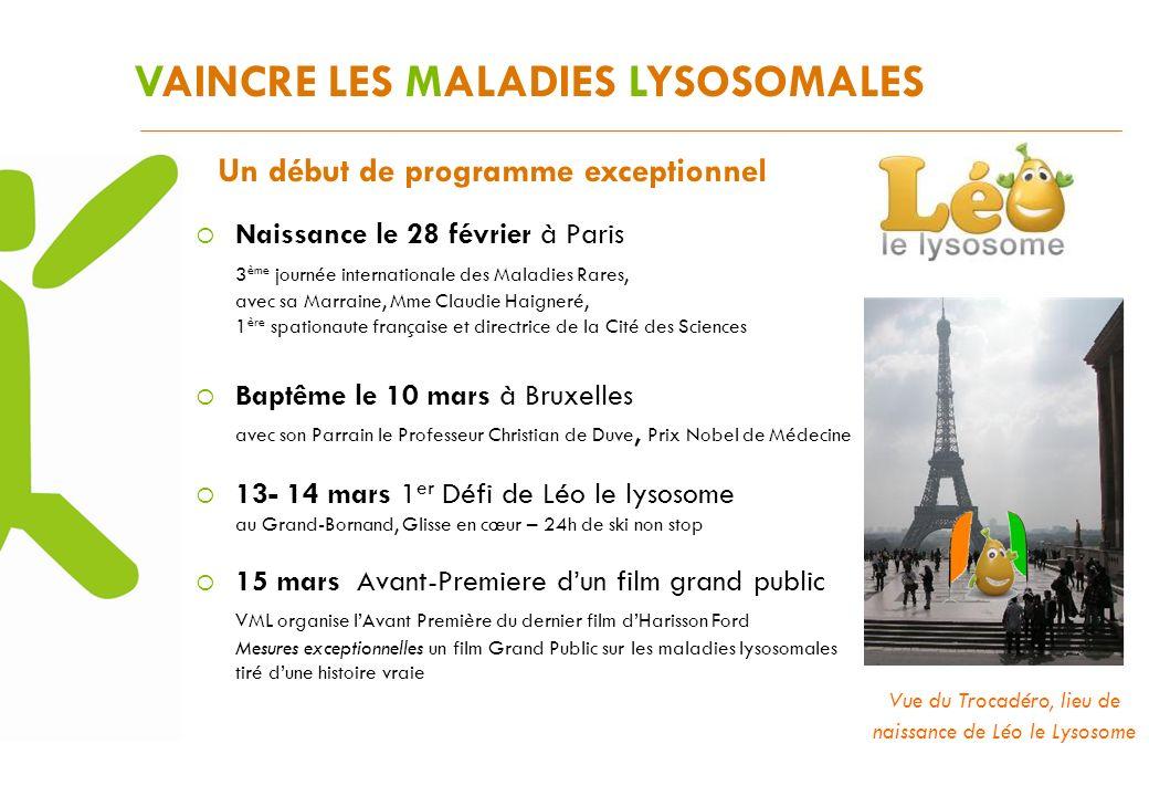 VAINCRE LES MALADIES LYSOSOMALES Un début de programme exceptionnel Naissance le 28 février à Paris 3 ème journée internationale des Maladies Rares, a