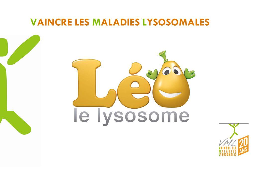 Héraut de VML créé pour les 20 ans pour devenir le symbole public de VML Léo le lysosome vise à : - donner un visage aux 50 maladies lysosomales - être une marque facilement mémorisable - « simplifier » le terme « lysosomales » - expliquer facilement les maladies lysosomales - un axe de communication pour se démarquer - donner un côté attachant à une cause grave - donner un support visuel aux manifestations, une mascotte que lon peut faire agir, parler … FEDERER ET ACCEDER AU GRAND PUBLIC Présentation de