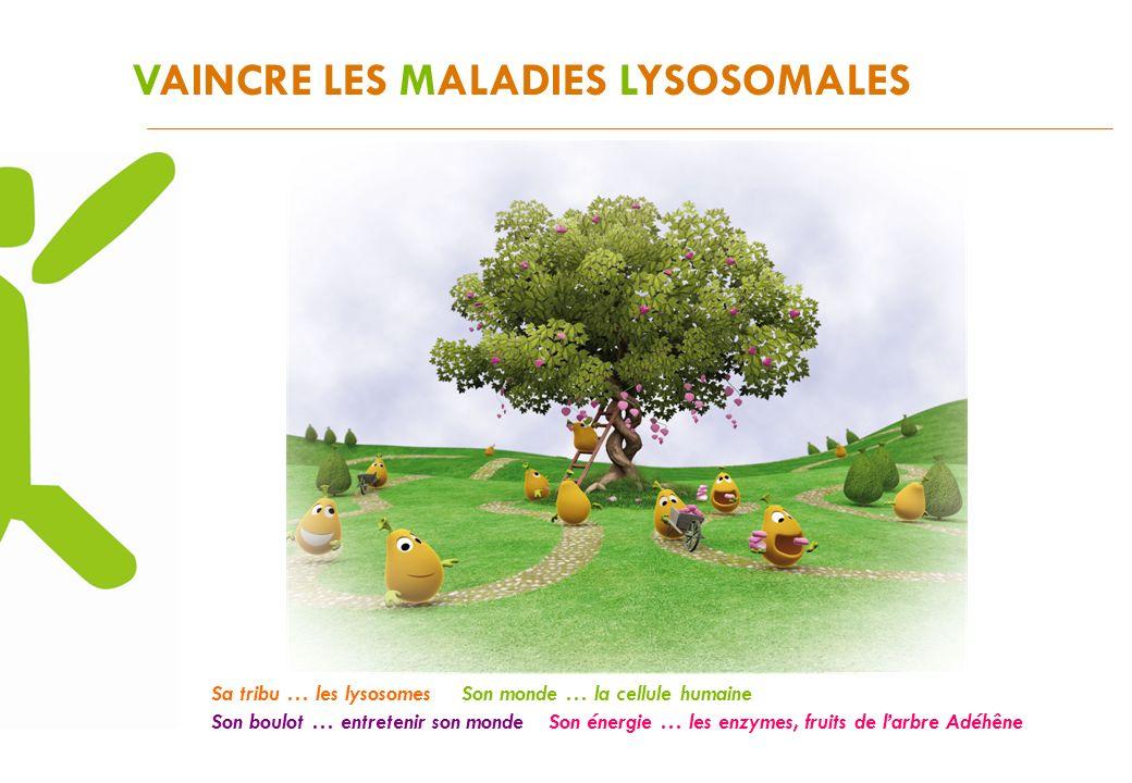 VAINCRE LES MALADIES LYSOSOMALES Mais aujourdhui larbre Adéhêne est malade.