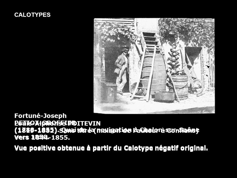 Fortuné-Joseph PETIOT-GROFFIER (1788-1855). Quai de la navigation à Chalon-sur-Saône vers 1850. Vue positive obtenue à partir du Calotype négatif orig