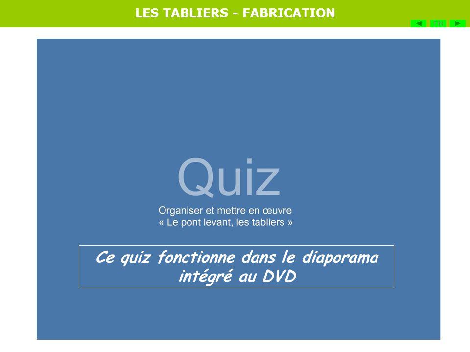 LES TABLIERS - FABRICATION FIN Ce quiz fonctionne dans le diaporama intégré au DVD