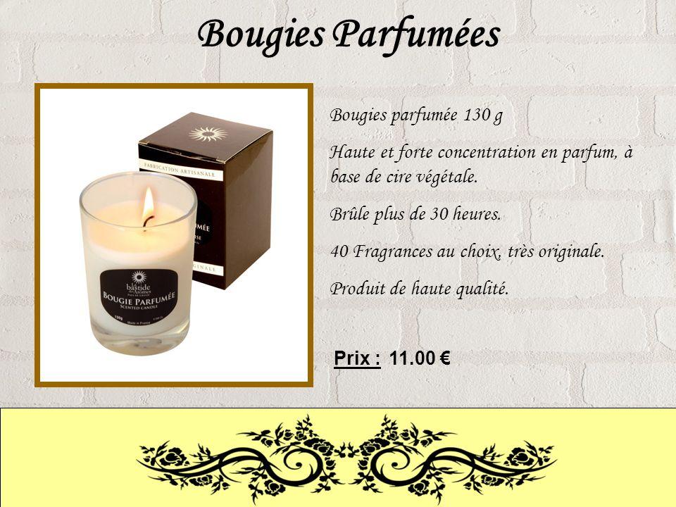 Bougies Parfumées Bougies parfumée 130 g Haute et forte concentration en parfum, à base de cire végétale.