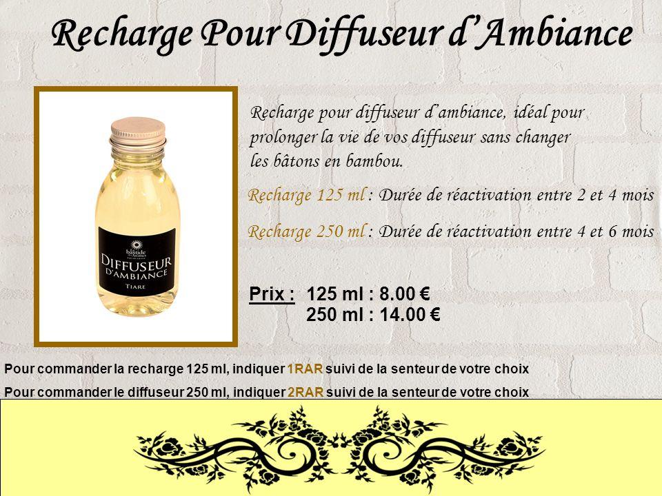 Recharge Pour Diffuseur dAmbiance Recharge pour diffuseur dambiance, idéal pour prolonger la vie de vos diffuseur sans changer les bâtons en bambou.