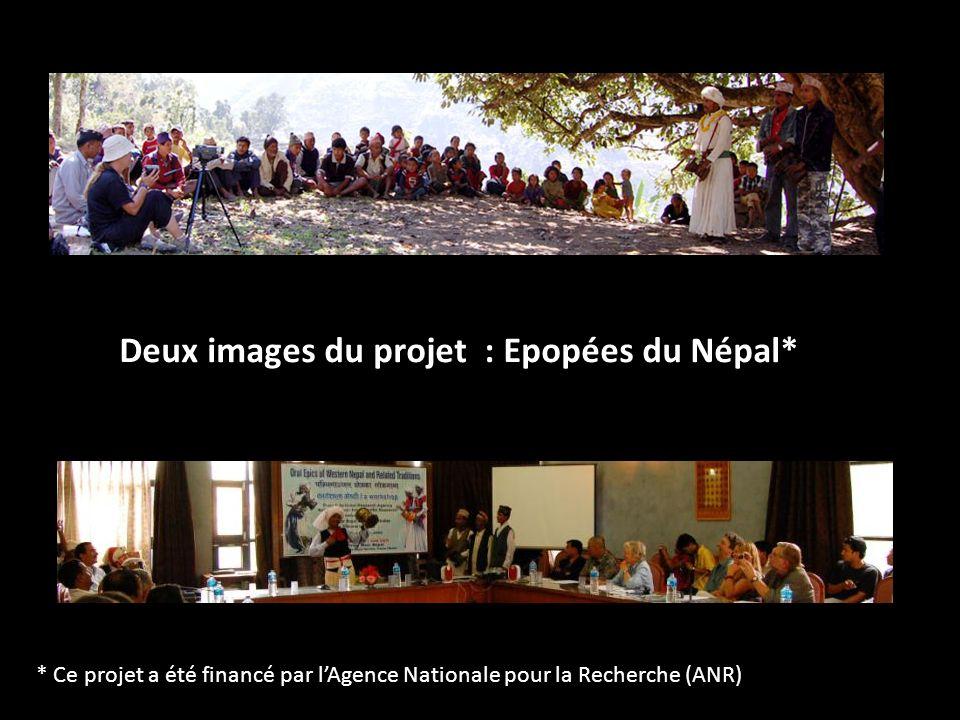 Deux images du projet : Epopées du Népal* * Ce projet a été financé par lAgence Nationale pour la Recherche (ANR)