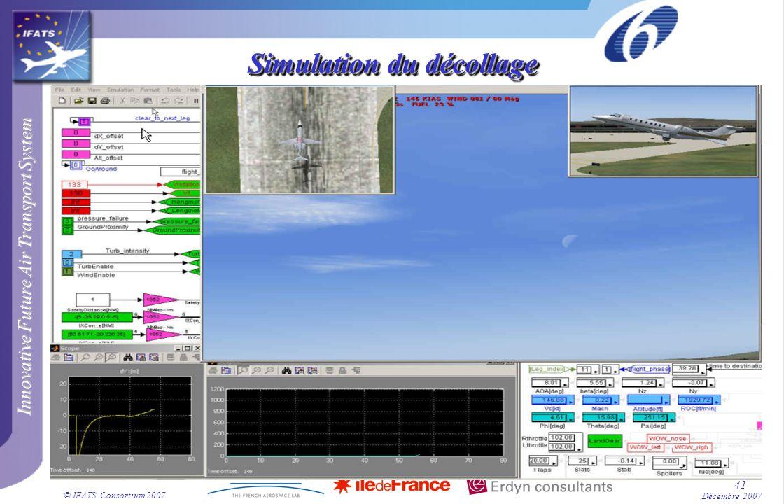 Innovative Future Air Transport System © IFATS Consortium 2007 41 Décembre 2007 Simulation du décollage