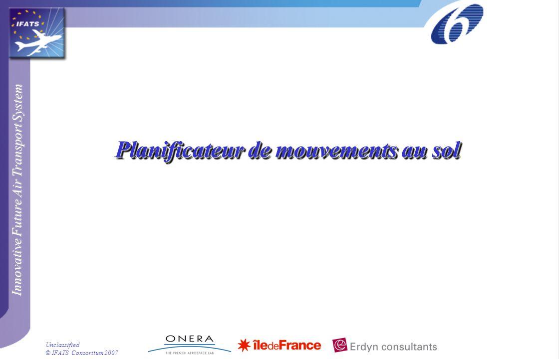 Innovative Future Air Transport System © IFATS Consortium 2007 Unclassified Planificateur de mouvements au sol