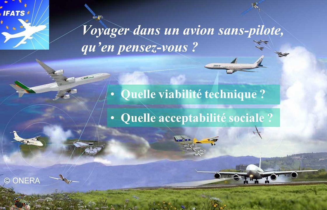 Innovative Future Air Transport System © IFATS Consortium 2007 91 Décembre 2007 Voyager dans un avion sans-pilote, quen pensez-vous ? Quelle viabilité