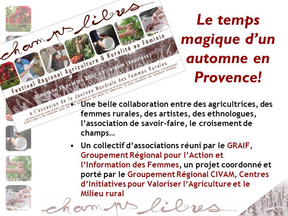 Une belle collaboration entre des agricultrices, des femmes rurales, des artistes, des ethnologues, lassociation de savoir-faire, le croisement de cha