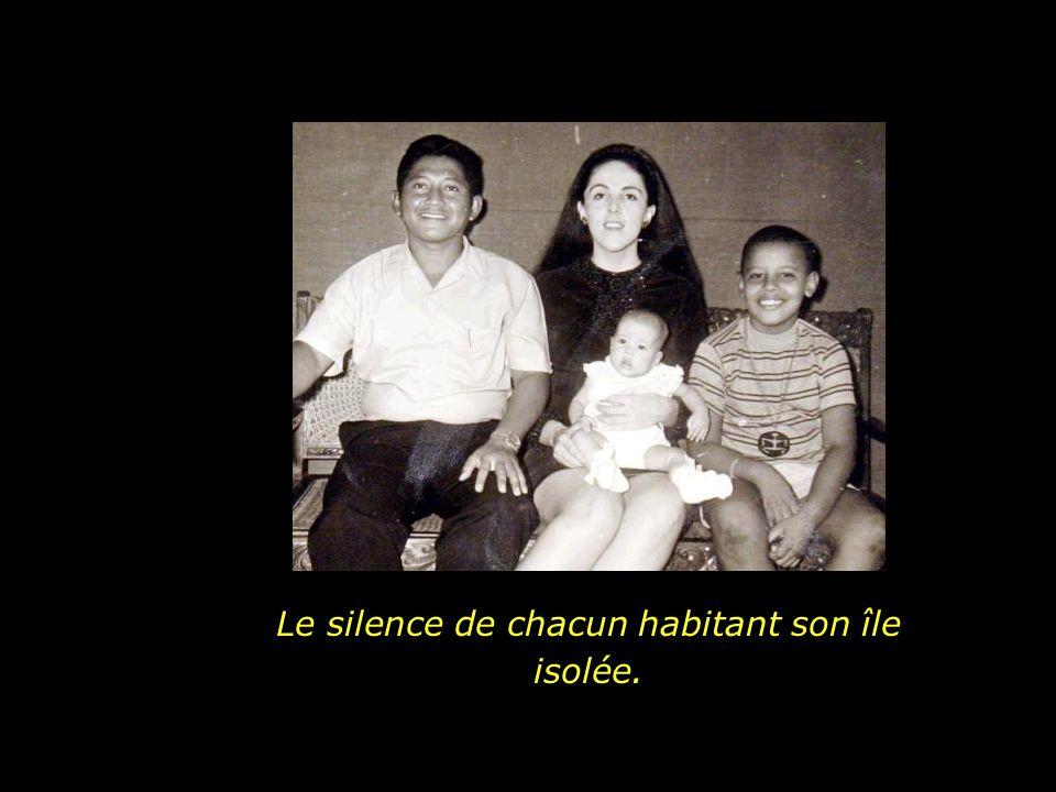 Et il existe un deuxième silence, celui qui est le silence des paroles non exprimées.