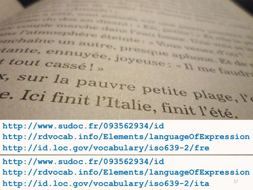 Journées ABES -- 18 mai2011 http://www.sudoc.fr/093562934/id a pour langue de publication http://id.loc.gov/vocabulary/iso639-2/ita http://www.sudoc.fr/093562934/id a pour langue de publication http://id.loc.gov/vocabulary/iso639-2/fre http://rdvocab.info/Elements/languageOfExpression 17