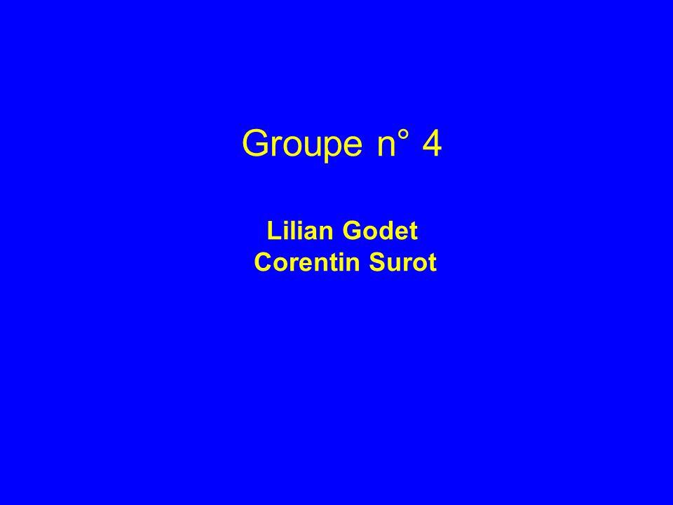 Groupe n° 4 Lilian Godet Corentin Surot