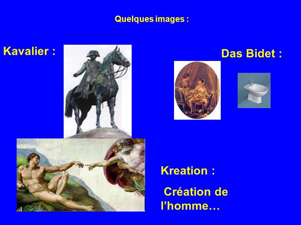 Quelques images : Kavalier : Das Bidet : Kreation : Création de lhomme…