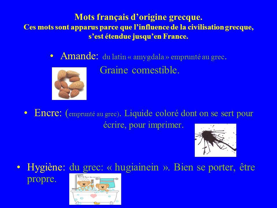 Mots français dorigine grecque.