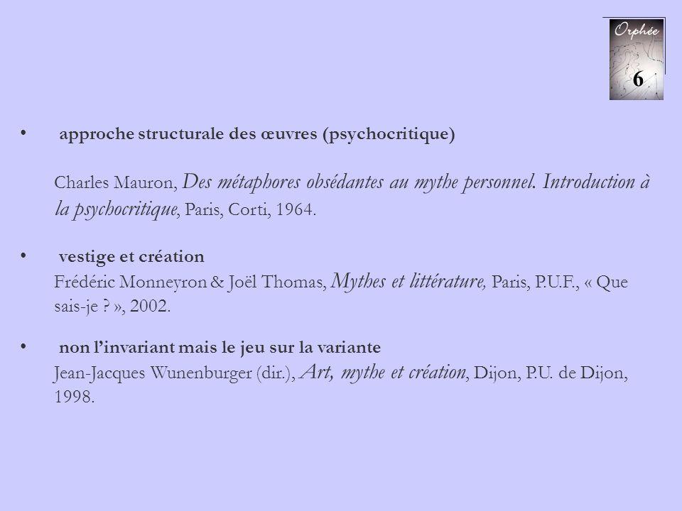 approche structurale des œuvres (psychocritique) Charles Mauron, Des métaphores obsédantes au mythe personnel. Introduction à la psychocritique, Paris