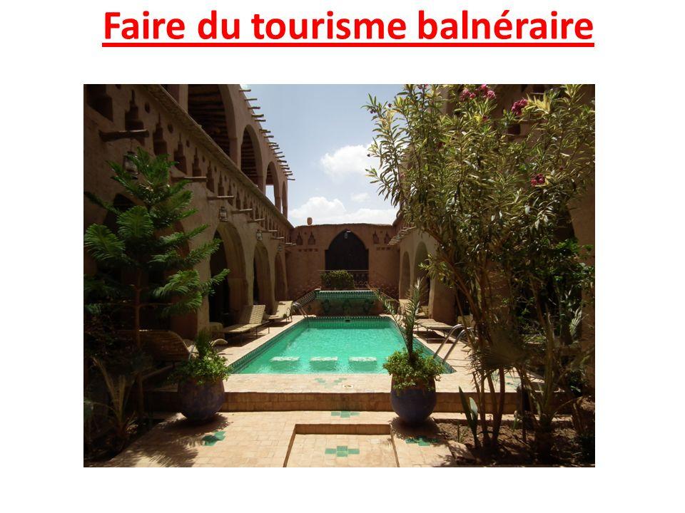 Faire du tourisme balnéraire