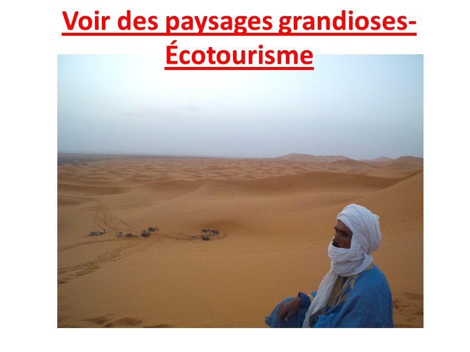Voir des paysages grandioses- Écotourisme